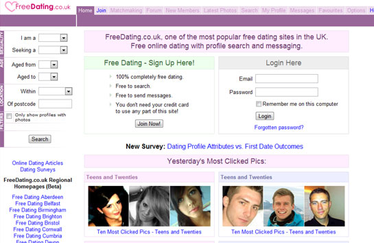 free subscription dating sites uk