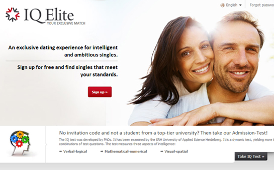 iq elite dating Elitesingles is the dating platform for successful, mature and intelligent singles dating over 40 meet singles worth meeting with us.
